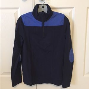 Talbots Athleisure Navy 1/4 Zip Knit Top XS
